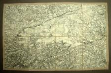 Parque Natural Regional de Armórica mapa geográfico antiguo 19eme