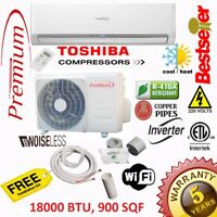 18000 BTU Air Conditioner Mini Split 19 SEER INVERTER AC Ductless Heat Pump 220V