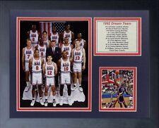 135eee806da 1992 USA BASKETBALL DREAM TEAM MICHAEL JORDAN LARRY BIRD MAGIC 8X10 PHOTO  FRAMED