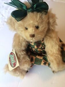"Cottage Collectibles Christmas 13"" Teddy Bear 1998 Carol E. Kirby GANZ KRISTEN"