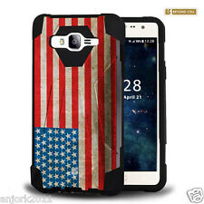 US Flag Shockproof Case w/Stand Cover for Samsung Galaxy Express Prime J3
