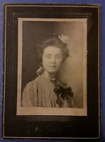 Vintage 1900 CDV Photo Beautiful Edwardian Era Woman Girl OLIVE LONDON