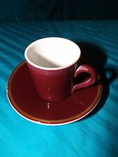 DISHES - 1957 Mayer China espresso cup  #457 & saucer plate #157, made in USA