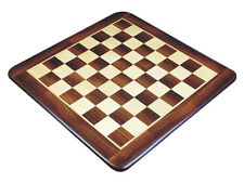 "Wide Bordered Flat Wooden Chess Board 23"" Solid Rosewood/Maple. Sq. Size 2-1/4"""