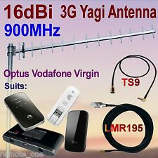 16dBi 900MHz 3G GSM Yagi Antenna OPTUS VIRGIN VODAFONE +TS9 Patch Cable +7m COAX