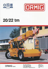 Ormig 20-22 tm Autokran Mobilkran Prospekt 2003 mobile cranes autogrue brochure