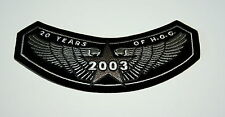 2003 20 Years Anniv. Hog Harley Davidson MotorCycle Cloth Jacket Patch New NOS