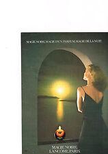 PUBLICITE  1980   MAGIE NOIRE   parfum LANCOME