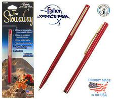 Fisher Gebürstetes Chrom Kugel Stift #400BRCCL Mit Clip Plus Eine Extra Blau