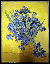 Wandteppich aus Italy Wanddeko Vincent Van Gogh - Irises  50 x 70 cm Neu Orient
