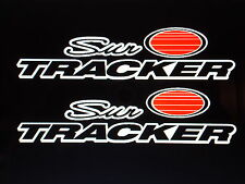 2 - 45 inch Sun tracker Pontoon Marine Vinyl suntracker boat decals black -white