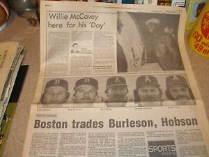 Lot of 2 Mobile Press/Register Sports Sections Honors Native Son Willie McCovey