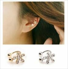 Unbranded Round Rhinestone Cuff Costume Earrings