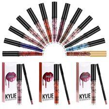 Liquide Gloss Waterproof Longue Tenue Matte Rouge À Lèvres + Crayon à Lèvres Set