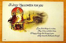 Postal de Halloween vintage