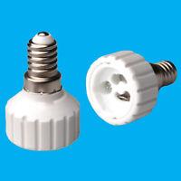 2x Small Screw SES E14 To GU10 Light Bulb Adaptor Lamp Socket Converter Holder