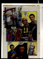 Star Trek Deep Space 9, #1 w/ Quark DSN Original Production art 4 part acetate
