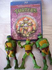 LOT Teenage Mutant Ninja Turtles in Time III Blu-ray & 3 Turtle Figures