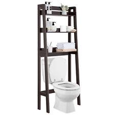 Bathroom Storage Over The Toilet Space Saver Espresso Rack Shelf Cabinet Home