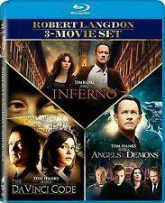 The Angels & Demons / Da Vinci Code / Inferno - Set [Blu-ray] New Dvd! Ships Fa