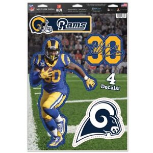 """TODD GURLEY LOS ANGELES RAMS 4 PIECE MULTI-USE DECALS 11""""X17"""" LIKE A FATHEAD"""