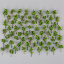 100pcs Green Model Trees for N Z scale Garden Park Street Layout Diorama 38mm