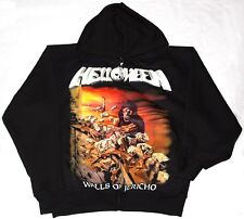 HELLOWEEN WALLS OF JERICHO'85 ZIPPED HOODIE WITH POCKETS NEW BLACK SWEATSHIRT