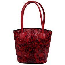 Embossed Indian Shantiniketan Pure Leather Handmade Tote Bag Retro Shopper Girls