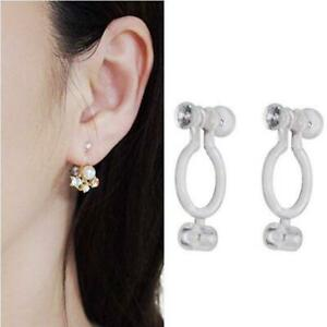 20Pcs Invisible Clip-on Earring Converters for Non Pierced Ears Jewelry r
