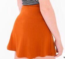 American Apparel Hyperion Skirt Short Mini Flare Skirt Umber Rust Orange Small