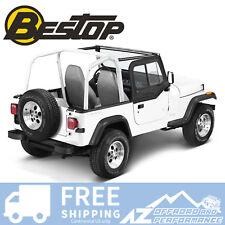 Bestop Upper Door Sliders 97-06 Jeep Wrangler TJ & Unlimited LJ Black Denim