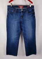 Lucky Brand Sweet N Crop Jeans Carpi Size 10/30 Dark Wash Womens