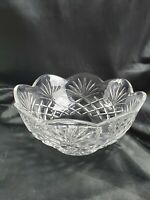 "Vintage 10"" Serving BOWL made of Glass Made Fan Design"
