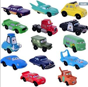 14pcs Disney Pixar Cars Lightning McQueen Mater Sally Action Figure Play set Toy