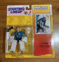 94 Arturs Irbe NHL Sharks Starting Lineup (rookie piece)