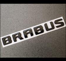 Neu Glanz Schwarz Brabus Abzeichen Emblem Heck Kofferraum Schriftzug Auto 31b