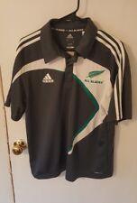 Adidas ALL BLACKS Rugby NEW ZEALAND Jersey Kit Grey Polo Mens Sz M Medium $100