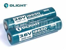 Olight 18650 3.6v 3600 Protected Rechargeable 2x ORB-186P36 Battery