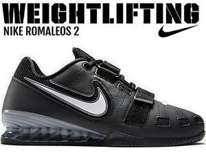 NIKE Romaleos 2 Weightlifting Powerlifting Shoes Gewichtheberschuhe Schwarz