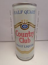 COUNTRY CLUB MALT LIQUOR 16oz CRIMPED STEEL PULL TAB BEER CAN #148-20-A WHITE