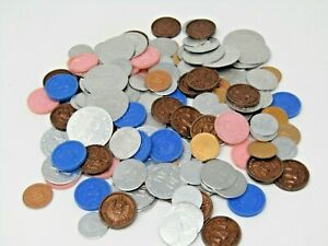 Vintage Play Coins Mostly Metal Some Plastic