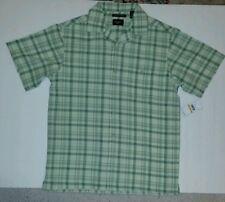 Haggar Work To Weekend Short Sleeve Microfiber Men' Shirt SEAFOAM size  S $45