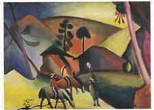Kunstkarte: August Macke - Indianer auf Pferden