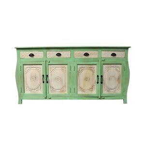 French Colonial Style Carved Large Sideboard Green (MADE TO ORDER)