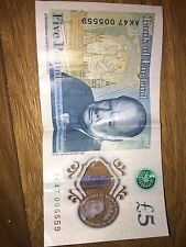5 pound note (Very Rare, First Of The AK47 Serial Number.) AK47 005559