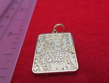 14KT GOLD EP JACK OF SPADES GAMBLING PLAYING CARD CHARM PENDANT-A89