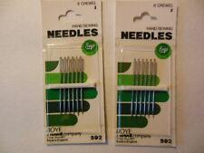 2 packs of  #2 Crewel Hand Sewing Needles, 6 needles per pack, BOYE