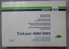 Deutz Fahr Mähdrescher Topliner 4060 + 4065 Ersatzteilliste