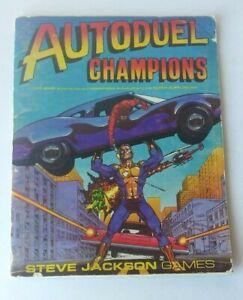 1983 STEVE JACKSON GAMES, AUTODUEL CHAMPIONS SUPER SUPPLEMENT. PAPERBACK BOOK