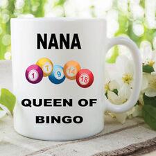 Bingo Mug Nana Queen Of Bingo Mothers Day Gift Birthday Coffee Cups WSDMUG609
